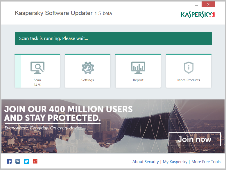Kaspersky Software Updater Screen shot
